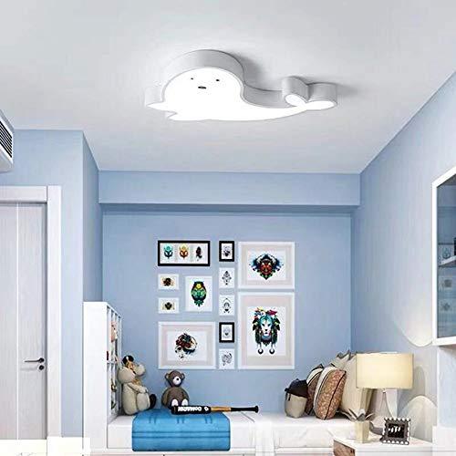Luz de techo LCSD Cute Dolphin Children's Luz De Techo Dormitorio Habitación Temática Sala De Estar Sala De Reuniones Simple Moderno Clásico Luz Control Remoto Atenuación Continua (Color : White)
