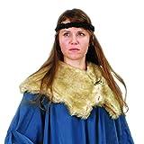 Faux Fox Fur Mantle, Unisex Viking Collar, Medieval Collar Brown