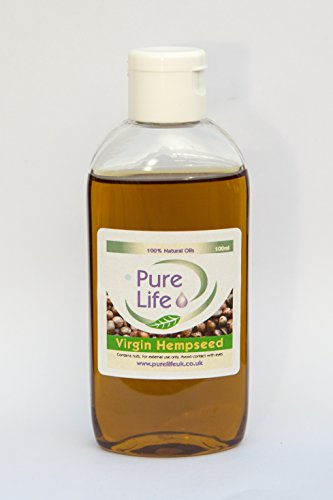 Hemp Seed Virgin Carrier Oil - Pure and Natural Aromatherapy and Massage Oil 50ml, 100ml, 200ml, 500ml, 1000ml. (100ML)