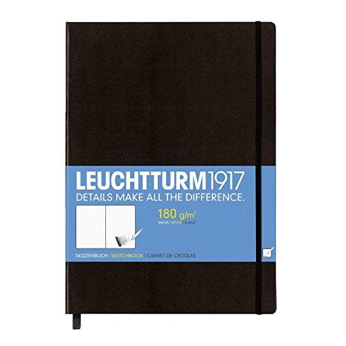 LEUCHTTURM1917 344675 Skizzenbuch Master (A4+), Hardcover, 96 Seiten (180 g/qm), Schwarz