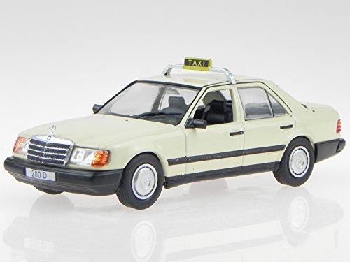 Mercedes W124 200D Taxi Modellauto in Vitrine 1:43
