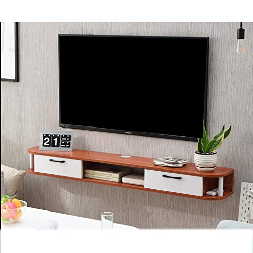 XUQIANG Mueble de Estante for TV montado en la Pared Estante de Juegos de Consola de Entretenimiento Multimedia con Muebles de cajones Plataforma de Montaje en Pared (Color : C)