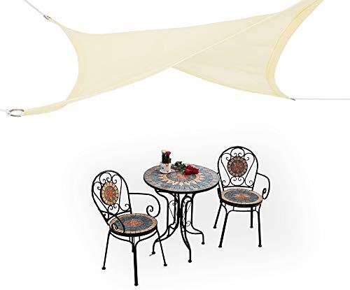 HDPE Toldo Vela de Sombra Cortavientos Transpirable,Toldo Tela, Resistente Rayos UV 95% Solar Protección para Terraza Balcon Jardine Camping Exterior Cuadrado/Rectangular Arena 4×5 m