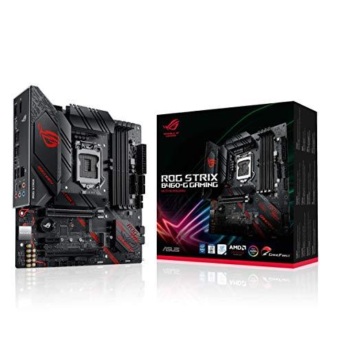 ASUS ROG Strix B460-G Gaming - Placa Base Gaming mATX Intel de 10a Gen LGA 1200, Dual M.2, DDR4, LAN 1Gb, HDMI, DP, USB 3.2 Gen 2, USB de Tipo C, Thunderbolt 3 e iluminación RGB Aura Sync