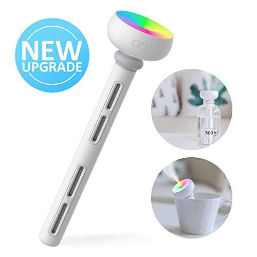 Mini Humidificador Portátil USB Ultrasónico Aire Vaporizador con Luz de Led para Viaje,  Automóvil,  Dormitorio,  Oficina,  Hotel sin Botella de Agua