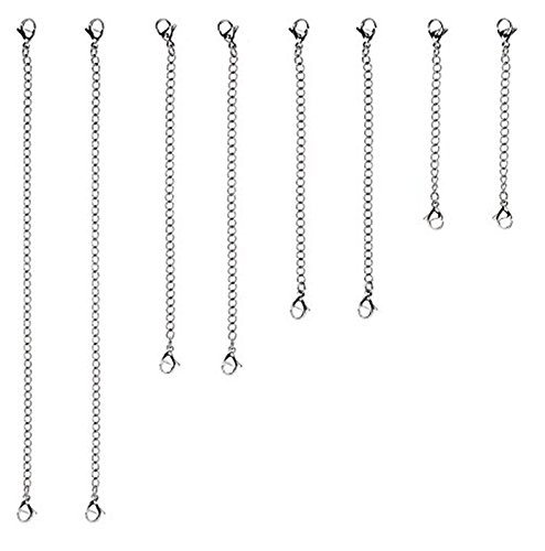 D-buy 8 Pcs Stainless Steel Necklace Extender Bracelet Extender Extender Chain Set 4 Different length: 6 inch 4 inch 3 inch 2 inch