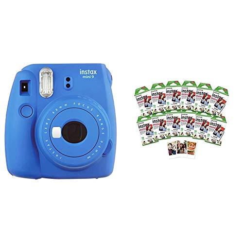 Fujifilm Instax Mini 9 Instant Camera Cobalt Blue w/ Fujifilm 120 Film Pack