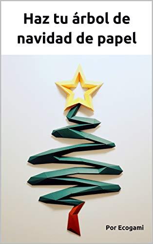 Haz tu árbol de navidad de papel: Rompecabezas 3D | Escultura de papel | Plantilla papercraft