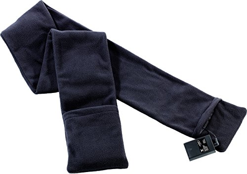 infactory Beheizbarer Fleece-Schal, 170 cm, Grau
