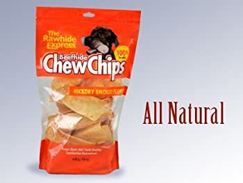 The Rawhide Express Beefhide Chew Chips Hickory Flavored 1 Pound Bag (Makes a Great Reward or Treat) by Lennox Intl (English Manual)