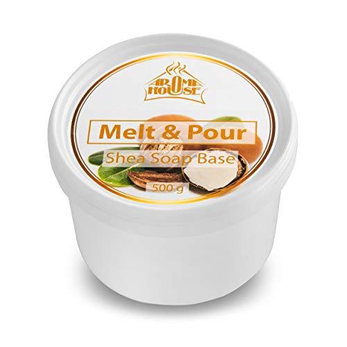 Seifenbasis Sheabutter 500g - Melt und Pour Sseifenbasis - Feuchtigkeitsspendend Rohseife - Soap für Trockene & Empfindliche Haut mit Shea Butter für Handgemacht & Geschenk