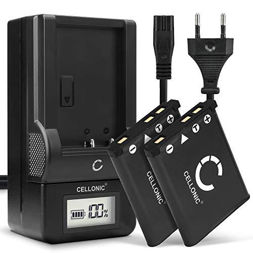CELLONIC® 2X Batería de Repuesto BC-45 per Fujifilm Fuji XP90 XP120 XP80 XP10 XP20 XP22 XP30 XP50 XP70 T360 FinePix J10 Z90 Z70, 700mAh + Cargador NP-45, Accu Sustitución Camara, Battery
