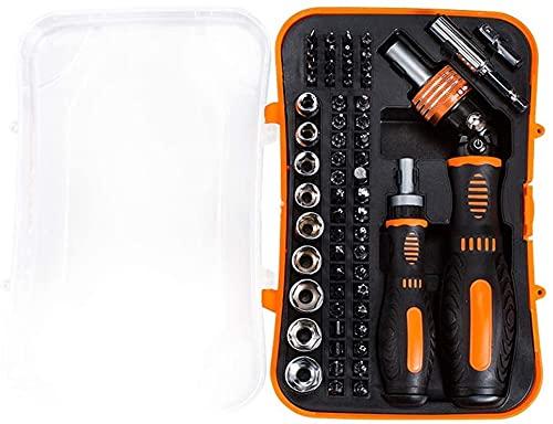 Destornillador de trinquete Conjunto bits magnéticos Toma de precisión Destornillador Set de bits de bits de trinquete Ajustable 61 en 1 Herramientas de Mano