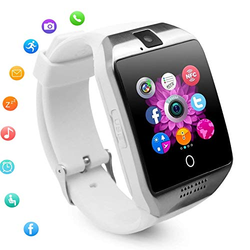 Bluetooth Smart Watch, Touch Screen Smartwatch Phone Camera Activity Fitness Tracker Sleep Monitor Sync Calls Wristwatch Compatible with Android Phones Samsung S20 S10 S9 S8 S7 S6 Note 9 Women