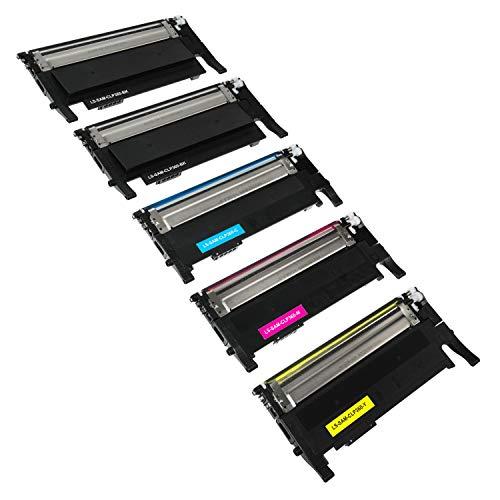 5 Toner kompatibel für Samsung Xpress C410W CLP-365/SEE CLP-365 360 CLX 3300 3305 FN FW Xpress C 460 FW Series - CLT-K406S CLT-C406S CLT-M406S CLT-Y406S - Schwarz je 1500 Seiten, Color je 1000 Seiten