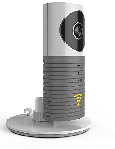 Videocamera di sorveglianza Wi-Fi (grigio) - Immagine, suono e allarme su smartphone