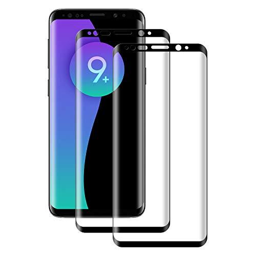 POOPHUNS Protector Pantalla Samsung Galaxy S9 Plus, 2 Unidades Vidrio Templado Samsung Galaxy S9 Plus, [Funda Compatible] Cristal Templado con Anti-Huella/Anti-Rasguños/9H Dureza [Cobertura total]