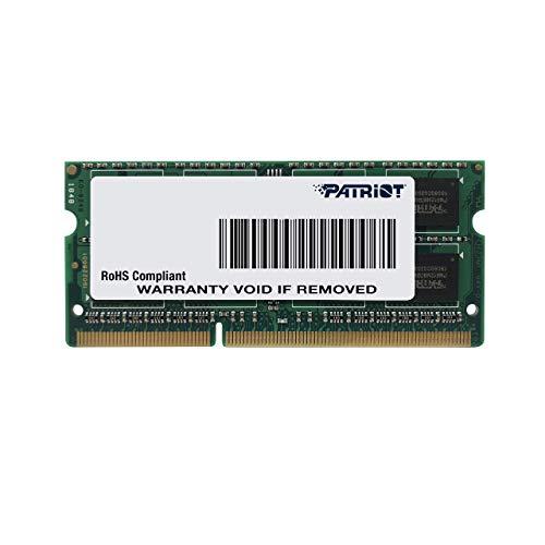 Patriot Memory Serie Signature SODIMM Memoria singola DDR3 1600 MHz PC3-12800 8GB (1x8GB) C11 - PSD38G16002S