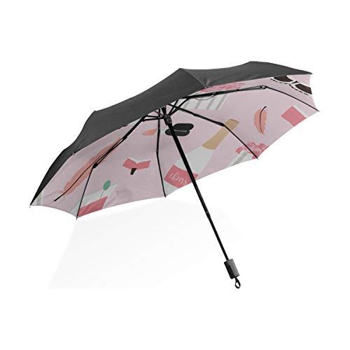Paraguas de Mujer de Dibujos Animados Lindo Sexy Hermosa Ropa Interior portátil Compacto Plegable Paraguas protección Anti UV a Prueba de Viento Viajes al Aire Libre Mujeres Verano Paraguas