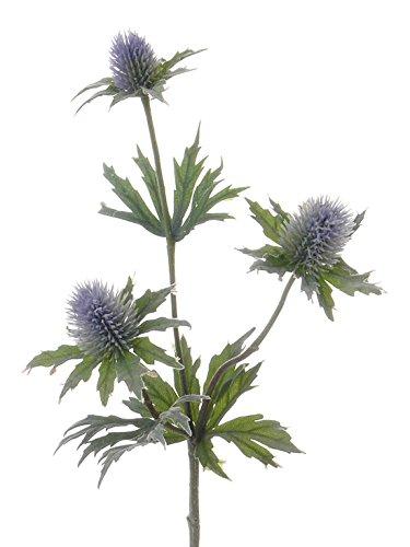 Künstliche Distel Blume mit 3 Blüten, Höhe 40cm