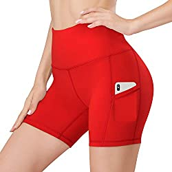 ★Design ★ Moisture-wicking, stretchy, and breathable fabric (Enough thickness, No See through while bending or stretching). Fabric is designed to contour perfectly to your body, giving you a streamlined look. ★Multi-function pockets★ Yoga shorts with...