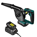 NEU MASTER Compact Jobsite Blower, Cordless Blower Vacuum with 20V MAX 2.0Ah Battery