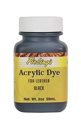 Fiebing's Acrylic Black Leather Paint 2 oz. (59mL) 2604-01