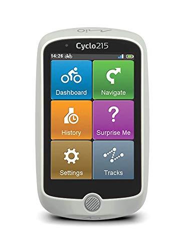 Mio Cyclo 215 HC Full Europe Bike Computer con Fascia cardio, Sensore di Ruota e Cadenza, Mappe Europa Preinstallate, Nero/Bianco