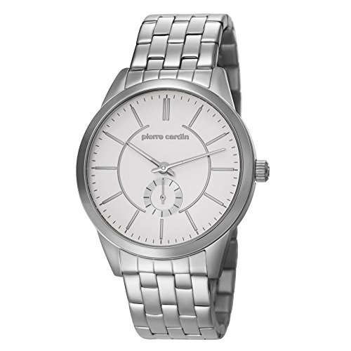 Pierre Cardin PC106571F06 - Reloj, Correa de Acero Inoxidable Color Plateado