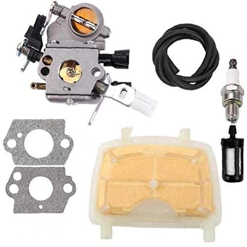 tJexePYK C1q-S121C carburador con Filtro de Aire para STIHL MS171 MS181 MS211 MS 181 171 211 Filtro de Gas de Chispa de la Motosierra de Combustible Plug 120 1139 1602 Repuesto