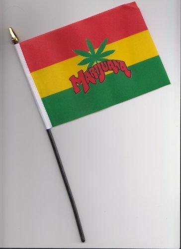 Chanvre-DRAPEAU Marijuana à main 25 cm