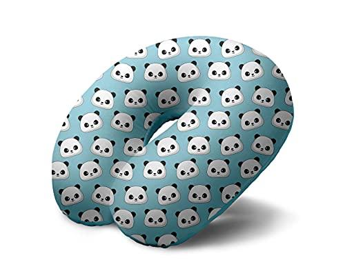 I-TOTAL® - Cuscino da viaggio/Cuscino da viaggio per collo Morbido per supporto cervicale/Cuscini Cuscino da viaggio divertente (Panda)
