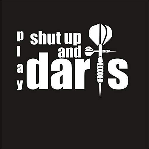 Krazz-Shirtz Dart Aufkleber, Darts Autoaufkleber, Darts Heckscheibenaufkleber (h=100 x b=150mm) (Weiß)