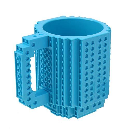 Akaddy Build-On Brick Mug, abnehmbare Bausteine Kaffeetasse DIY Block Puzzle Mug Geschenk (1)