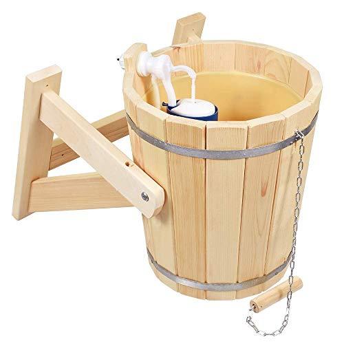 Sauna, Russian bathhouse, bucket for shower 10 l, SPA, pool, Jacuzzi, waterfall