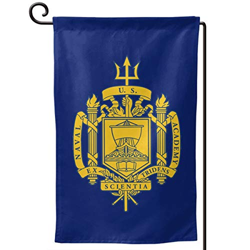 Chapman23Becky Melville US Navy Naval Academy Garden Flag Yard Outdoor Home Decor Double Sided 12.5x18 Inch