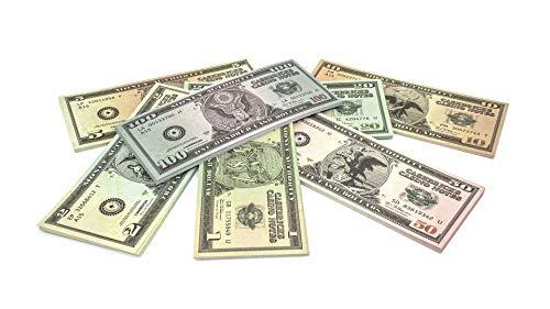 Cashbricks 7 x 25 Spielgeld Dollar Scheine (1$-100$) Set