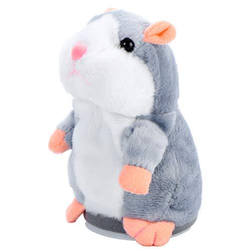 TOYANDONA Sprechendes Hamsterplüschtier Wiederholt was Sie Sagen Mimikry Haustier Elektronische Sprechende Aufzeichnung Stofftier Interaktives Spielzeug für Kleinkinder Kinder