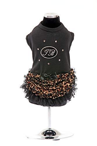 Trilly All Brilli jurk Jersey en Swarovski stenen zwart - 1 product