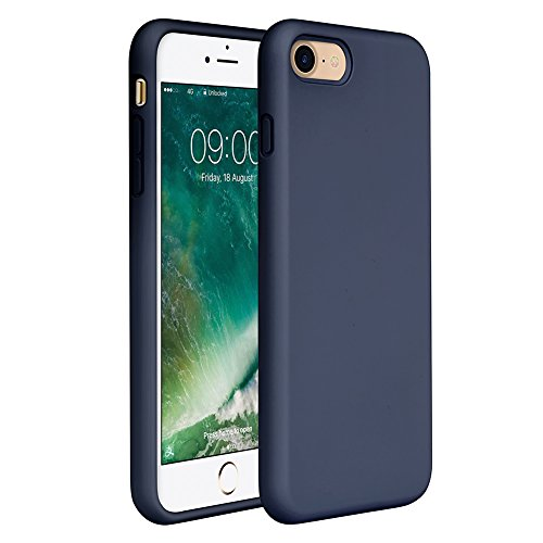 iPhone SE Case(2020),iPhone 8 case,iPhone 7 Silicone Case Miracase Gel Rubber Full Body Protection Shockproof Cover Case Drop Protection for Apple iPhone 9/ iPhone 8/ iPhone 7(4.7')(Navy Blue)