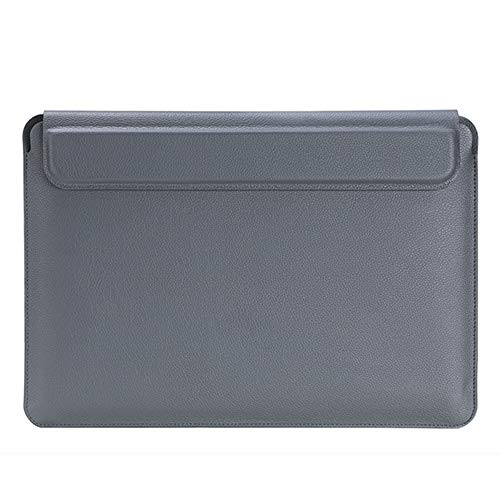 3 in 1 Laptop Sleeve Compatible with 13-16 inch MacBook Pro, MacBook Air, Waterproof Notebook Computer Bag Case with Lapto Stand, Grey,15.4 inches