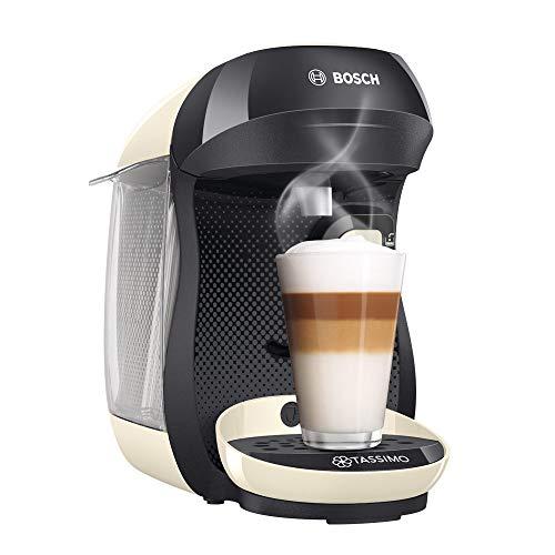 Bosch TAS1007 Tassimo Happy Cafetera de cápsulas, 1400 W, color vainilla y negro