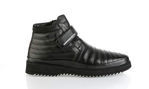 Gianfranco Butteri 7006 Herren Winterstiefel, italienisches Design, Leder, Schwarz, Schwarz (schwarz), 41 EU