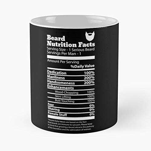 Nuevo Beard The are Nutrition She Beards Facts Six Wants B Packs Mejor Taza de café de cerámica de 11 oz Personalizar