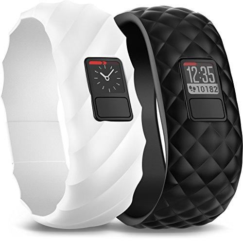 Garmin Vivofit 3 Style Collect Bundle Braccialetto Wellness/Fitness Impermeabile per Rilevamento Attività Quotidiana, Nero/Bianco, Confezione da 1 Dispay e 2 Bracciali