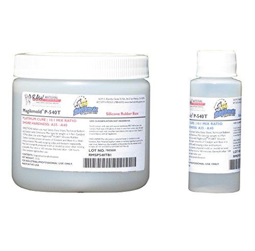Magikmold P-540T Translucent Platinum Cure Silicone Rubber Pint Kit 1.1 lb
