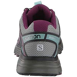 Salomon Women's X-Mission 3 Trail Running Shoes, Shadow/Dark Purple/Nile Blue, 8.5 US