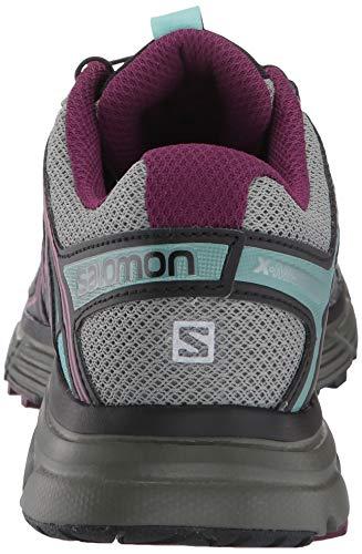Salomon Women's X-Mission 3 Trail Running Shoes, Shadow/Dark Purple/Nile Blue, 9 US