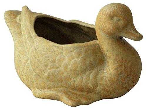Pflanztier/pflanzente/canard, 29 x 18,5 cm, antique frostsicherem, en grès