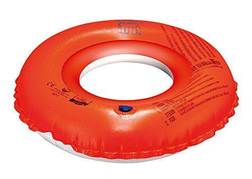 Happy People 18049 Bema Schwimmring,mit 2 Luftkammern, D:42 cmaufgeblasen, D:45 cm flach, orange/blau